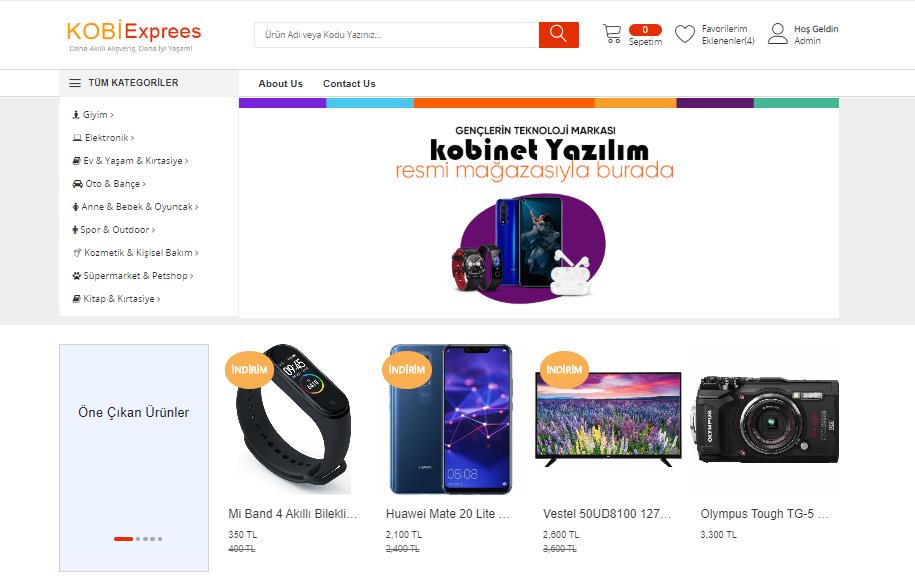 Kobiexpress E-ticaret Teması Yayında !