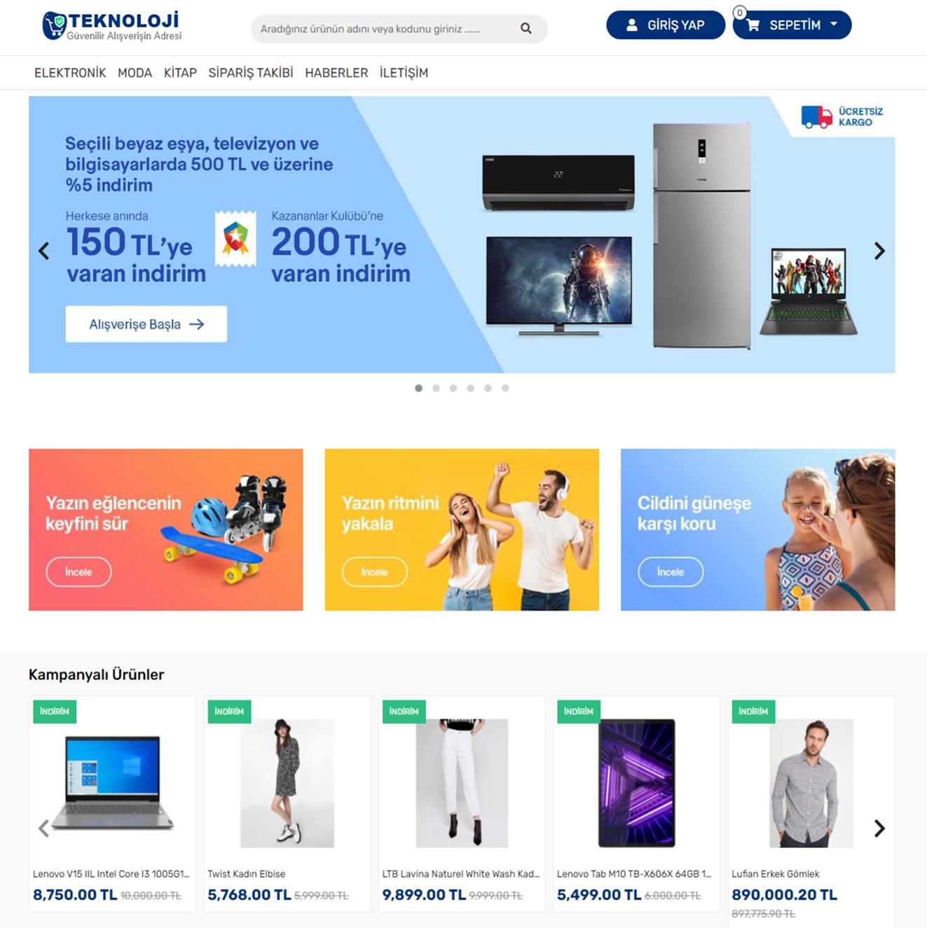 KobiTekno E-ticaret Teması Yayında !