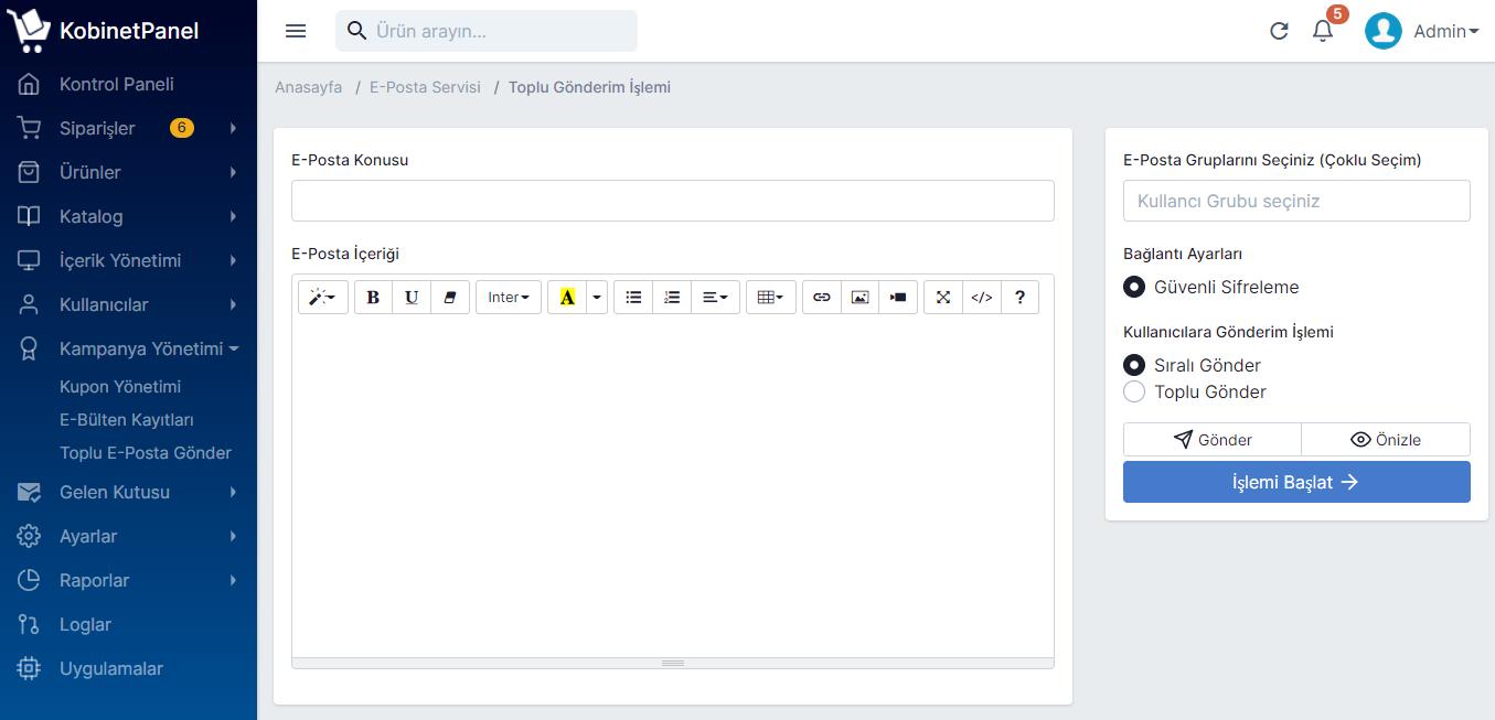 Toplu E-Posta Gönderme Mailing İşlemleri